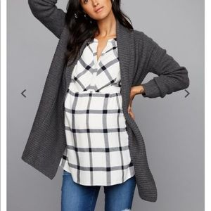 Drape Front Maternity Sweater